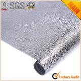 金属フィルムの銀によって薄板にされる布