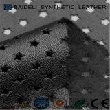 Кожа PVC прокалывания синтетическая для ботинок/атлетических ботинок/ботинок спорта/ботинок футбола