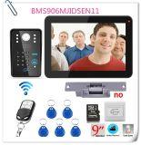 """внутренная связь & Remote телефона двери записи пароля 9 """" RFID видео- открывают"""