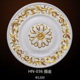 Medalhões/rosas decorativos do teto do plutônio para a decoração Home interior Hn-036