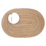 100% PP Placemat oval para o Tabletop & o revestimento