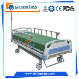 Camas de hospital manuales de la función de la base 5 con el sistema central del bloqueo (GT-BM1102)