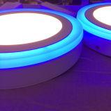 青い端2カラー表面の取付けられた照明灯LEDのパネル