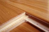 Klicken karbonisierter vertikaler ausgeführter Bambusbodenbelag mit HDF Kern