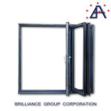 Portello di vetro piegante di alluminio di Frameless, portello Bi-Piegante di alluminio con As2047