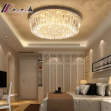 Luz de techo cristalina redonda del oro moderno para el pasillo del hotel