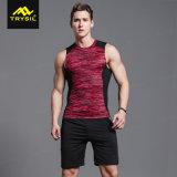 Le magliette Alto-Elastiche Legging degli uomini ansima il vestito di forma fisica di sport della pelle