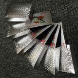 Projetar cartões de jogo plásticos chapeados prata