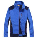 Moda manga comprida 100% poliéster bordado casual casaco de lã exterior