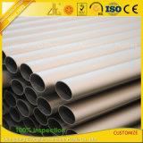Quadrato di alluminio di alluminio dell'espulsione di iso 9001/rotondo anodizzato/piano/tubo ovale