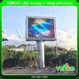 使用法フルカラーLEDのスクリーンか広告するか、またはデジタル掲示板の構造の外