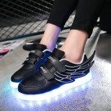 Высокое качество дешевое СИД обувает светлый, проблескивая свет ботинок, ботинки проблескового света