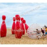 Sfera di bowling gonfiabile, sfera variopinta di Zorb dell'erba di gioco del calcio, sfera di rotolamento Bumper gonfiabile, sfera di bowling gonfiabile