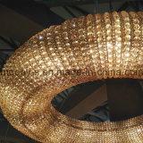Moderne Groot en Luxe om de LEIDENE van de Ring Egyptische Kroonluchter van het Kristal voor Hotel