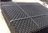 平ら曲げられた編まれた金網かひだを付けられた金網を越えた