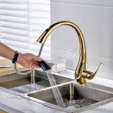 Misturador sanitário do Faucet da bacia dos mercadorias do ouro