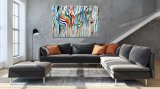 Peinture colorée moderne d'art de mur de zèbre de Raibow