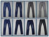 calças de brim 9.6oz magros profundamente pretas (HY2516-07S)