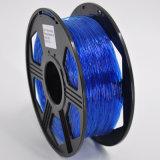 Colore flessibile di plastica dell'azzurro del filamento della stampante 3D del Rod 3mm