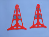 Cone altamente reflexivo patenteado do tráfego do europeu