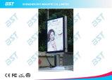 Pantalla de visualización de LED de la publicidad comercial de postes de la calle de P8mm en diseño elegante del teléfono