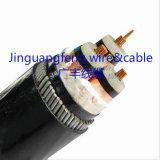 Cabo distribuidor de corrente de cobre do condutor 3+1 C XLPE/PE/Swa