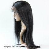 Do cabelo indiano de Remy da boa qualidade peruca cheia das mulheres do laço