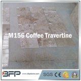 Azulejo de piedra de mármol natural del travertino para la vanidad/la pared y el suelo del cuarto de baño