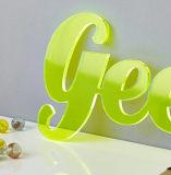 Feuille acrylique de moulage transparent en plastique pour annoncer le signe