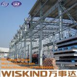 Struttura d'acciaio del magazzino del capannone del gruppo di lavoro dell'indicatore luminoso prefabbricato della costruzione