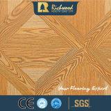 12.3mmのAC4によって浮彫りにされるカシの音-引きつけられる寄木細工の床の木の薄板にされたフロアーリング