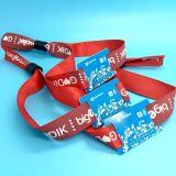 O festival de música tickets o bracelete tecido wristband da tela de NTAG216 RFID NFC