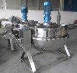 Calefacción eléctrica industrial marmita de cocción de la chaqueta con el mezclador