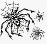 etiqueta engomada temporal impermeable del tatuaje del diseño del tótem de la araña de la manera