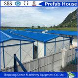 Casa modular de la casa prefabricada prefabricada reciclable de la casa de la buena calidad de la estructura de acero del color para la vida temporal