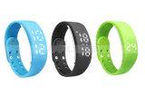 Podómetro elegante corriente de múltiples funciones colorido del reloj de la pulsera del reloj de las señoras del deporte LED