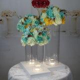 Vase acrylique clair durable léger à cylindre