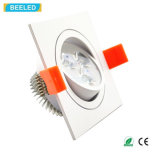 Quadrat 3W wärmen weiße LED-Decken-Lampe Dimmable LED Downlight