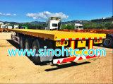 Longs véhicules des Tri-Essieux 40FT, remorque à plat, remorque de conteneur, semi remorque