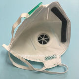 Máscara de polvo no tejida N95 con dimensión de una variable plegable válvula