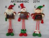 """23 """" Hの黒いボードAsst.が付いている永続的なクリスマスの装飾のギフト"""