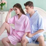 カップルのワッフルの浴衣/パジャマ/Nightwears