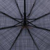 屈折のハンドルが付いている自動開いた灰色のストリップのフォールドの傘