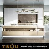 De natuurlijke Houten Keuken Cabients tivo-0180V van de Orde van het Vernisje