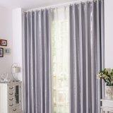 Tela lustrosa moderna da cortina do escurecimento das listras verticais (14F0012)