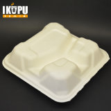 100% Biodegradável Eco Friendly Compostable Wheat Straw Yellow Pulp Food Container