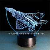 Indicatore luminoso acrilico di notte di vendita diretta LED della fabbrica, lampada domestica acrilica della decorazione 3D