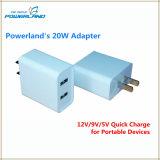 20W double ports USB Chargeur universel avec recharge rapide
