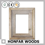 Schäbiges rustikales festes Holz-Abbildung-Foto-Rahmen-Formteil