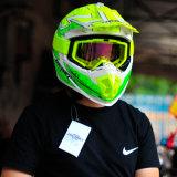 Motocicleta Helemt de la cara llena para el motocrós con colores brillantes